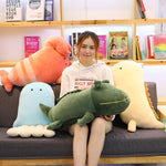 Cartoon Marina Life Plush Toy Baby Lovely Stuffed Crocodile Pillow