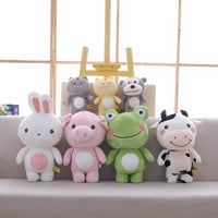 Plush Animal Toy Stuffed Cute Pig Monkey Bunny Frog Cattle Doll