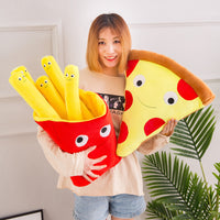 Simulation Food Pillow Plush Chips Pizza Toy Soft Cute Stuffed Food Cushion