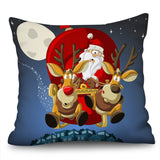 Christmas Decorative for Home Cushion Cover Plush Deer Pillowcase