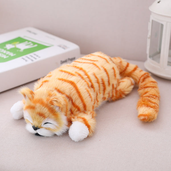 Electric Simulation Cat Soft Laughing Rolling Plush Doll Kids Gift