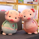 Soft Lovely Cute Plush Stripe Pig Doll Stuffed Cartoon Elephant Doll