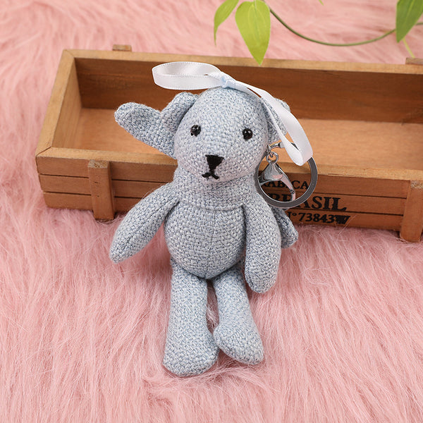 Cute Plush Teddy Bear Toy Soft Animal Key-chain Doll Baby Gifts