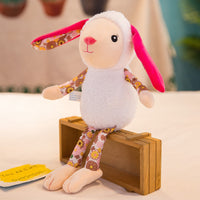 Lovely Stuffed Small Floral Print Bunny Toy Super Cute Plush Doll
