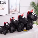 Cute Stuffed Black Unicorn Toy Kids Birthday Gifts Plush Animal Doll