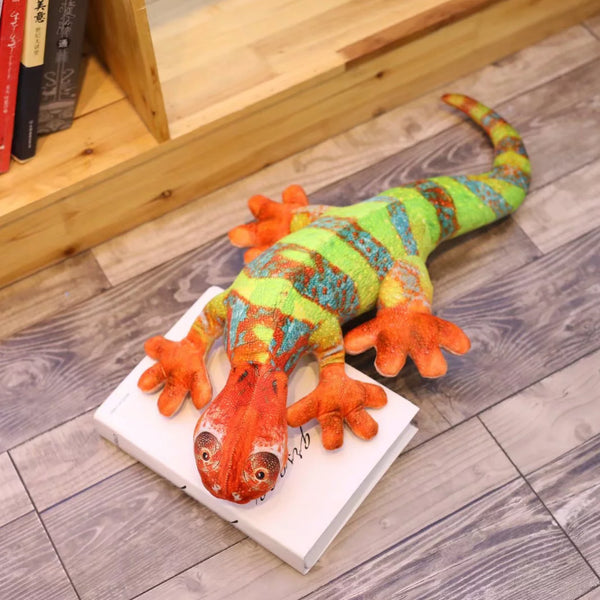 Giant Stuffed Lizard Toy Birthday Gifts Soft Plush Chameleon Pillow