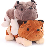 Cute Plush Bulldog Doll Soft Stuffed Lying Prone Sharpei Dog Pillow