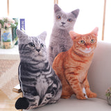 Cat Shaped Pillows Soft Stuffed Animals Cushion Sofa Decor Cartoon Plush Toys