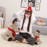 Cute Christmas Elk Plush Toy Stuffed Soft Deer Gift Doll for Kids
