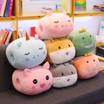 Soft Unicorn Hand Warm Stuffed Animals Plush Toy Pig Pillow Cushion