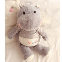 Big Animals Hippo Plush Toy Stuffed Soft Cartoon Elephant Doll Pillow