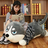 Soft Husky Dog Plush Toy Large Stuffed Cartoon Dog Animals Pillow