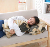 Cute Simulation Dog Plush Toy Soft Stuffed Animal Dog Pillow Cushion