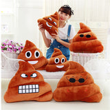 Feces Bucket Pillow Plush Toys Struggle Dolls Cute Emoji Poop Cushion