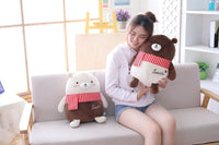 Chocolate Lovers Bear Plush Toys With Beautiful Scarf Stuffed Bear Doll Toy