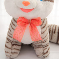 Cute Stripe Cat Plush Toy Doll Soft Stuffed Cat Pillow Toy for Baby
