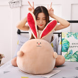 Cute Cartoon Rabbit Plush Toy Fat Round Long Ear Stuffed Bunny Doll