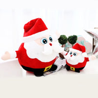 Christmas Santa Claus Plush Doll Stuffed Luminous Music Toys for Kids
