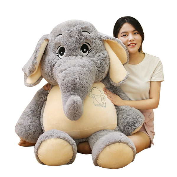 Gentle Elephant Plush Toys Stuffed Cartoon Elephant Animal Doll Toy