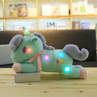 Cute Light Colorful Unicorn Plush Toy Stuffed Luminous Pillow