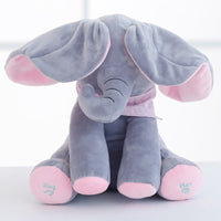 Plush toy peek-a-boo Elephant Hide-and-seek Game Baby Animated Plush Elephant Doll