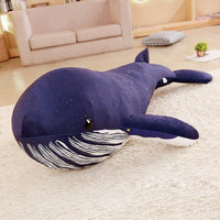 Cute Blue Whale Plush Toy Soft Stuffed Sea Animal Doll Pillow for Kids