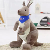 Australia Kangaroo with Baby Plush Toy Stuffed Animal Kangaroo Dolls