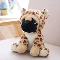 Cute Lamdoo Dog Plush Doll Stuffed Pug Dog Puppy Soft Cuddly Animal Toy in Costumes