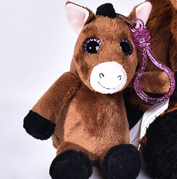Lovely Soft Stuffed Plush Horse Toy Kids Gifts Stuffed Animal Pillow