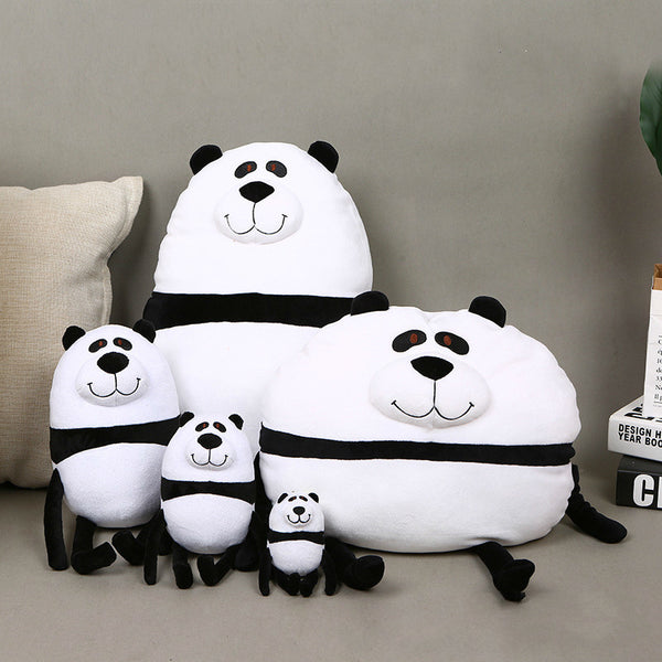 Creative Stuffed Round Panda Pillow Soft Cartoon Plush Animal Toy
