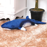 Small Life Like Stuffed Minke Whale Pillow Soft Whale Plush Kids Toy