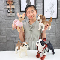 Realistic Cute Stuffed Dog Toy Plush Puppy Animal Pillow Gift for Kids Bull Terrier