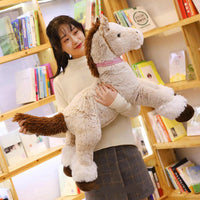 Giant Stuffed Horse Toy Cute Plush Animal Pillow Kids Birthday Gifts