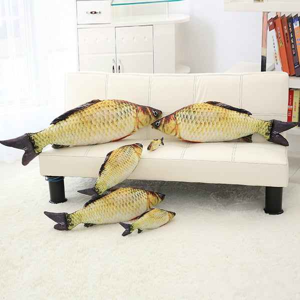 Simulation Carp Fish Shape Plush Toy Stuffed Salted Fish Throw Pillow