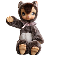 Sweet Plush Toys Bear Joint Figure Dress Dolls Stuffed Reborn Baby Toys Plastic Teddy Bear 30CM