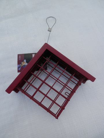 Suet block feeder for birds