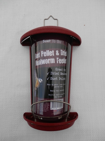 Meal worm feeder for birds