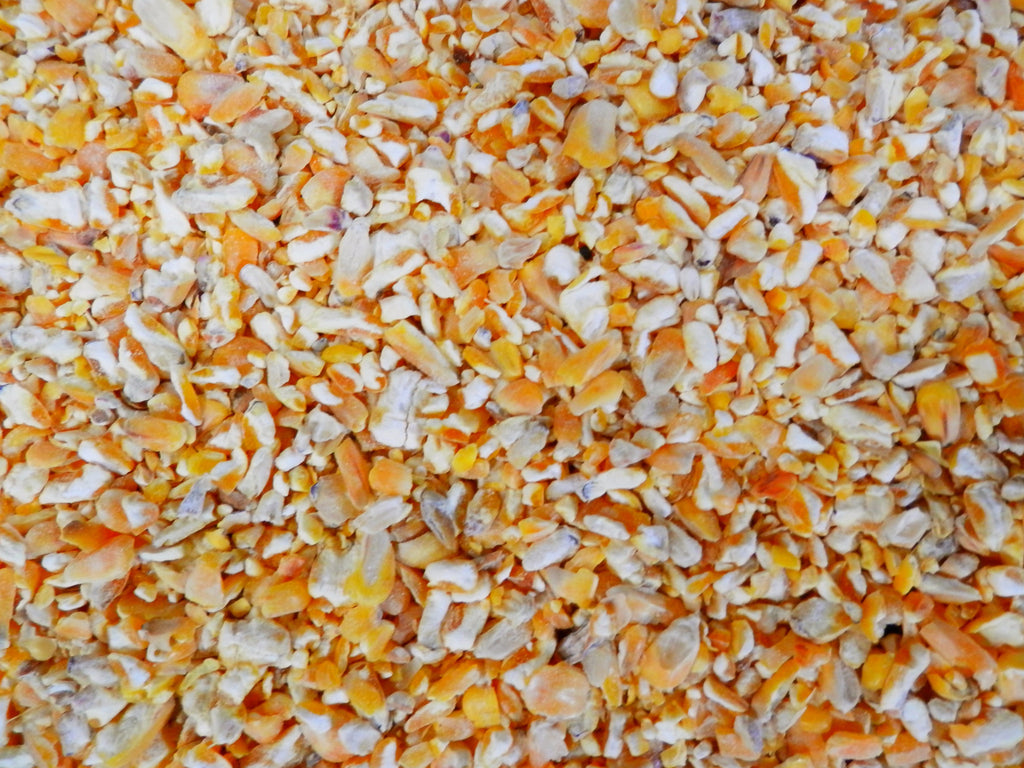 cut or kibbled maize for birds