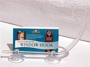 Window hook for bird feeder