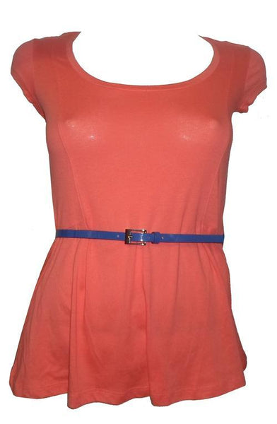 CLEAR-OUT: Guess Peplum Belted T-shirt