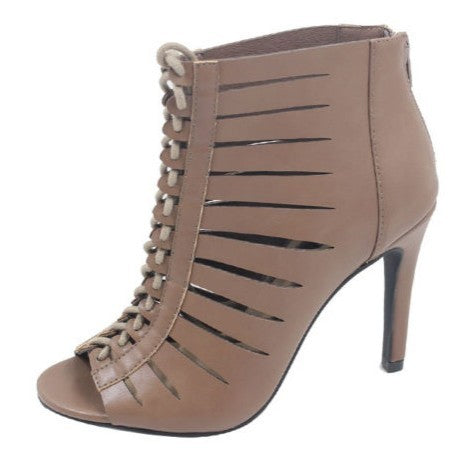 Ladies Footwear | Lace-up Peep Toe Heels by Jada
