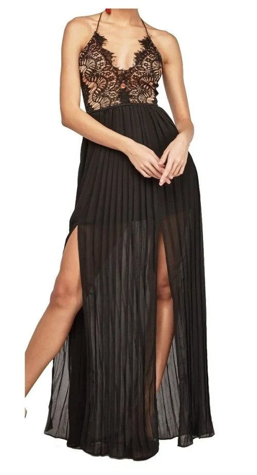 Boutique Eyelash Lace Maxi Dress by Avenue