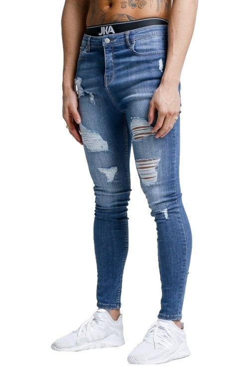 CLEAR-OUT: Men's Distressed Super Skinny Jeans by JKA