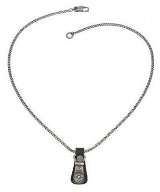 CLEAR-OUT: Guess Men's Zipper Pendant Necklace