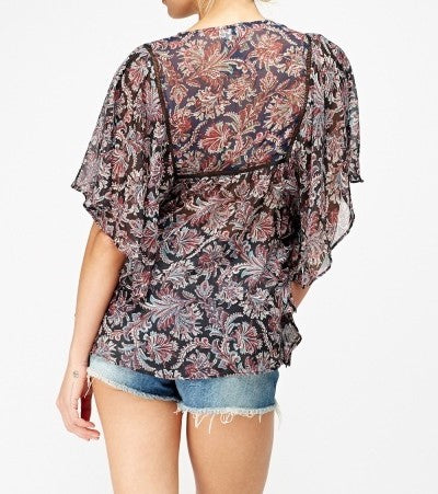 CLEAR-OUT: Sheer Batwing Top