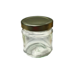Plain Honey Jar 130g (100ml) with Gold Lid - Case of 12