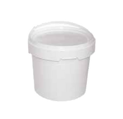 White Plastic Pail 3kg with Lid - 10 Pack
