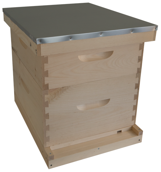 Complete Hive Kit with 1 Deep and 1 Medium Hive Body (Unassembled)