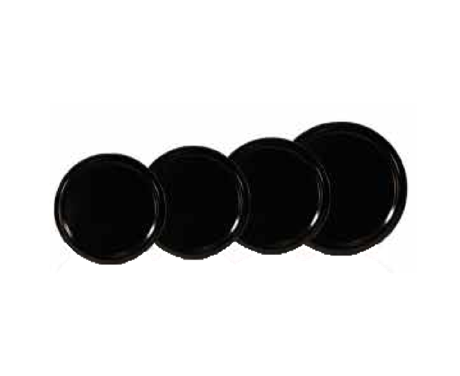 Black Lid Covers for Glass Honey Jar - 12 pack