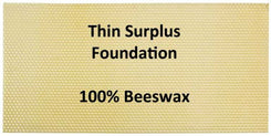 Super Thin Surplus Wax Foundation